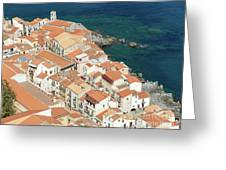 The View From The Rocca De Cefalu Greeting Card