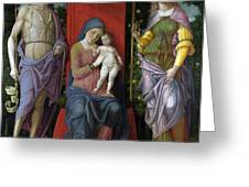 The Virgin And Child With Saints Greeting Card