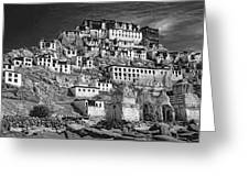 Thiksey Monastery Greeting Card