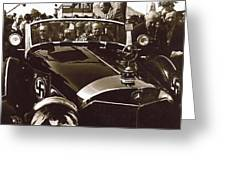 Tom Barrett And Family  High Bidder  Earl Clark At $153,000 Of Adolf Hitlers Mercedes Benz 770k Greeting Card