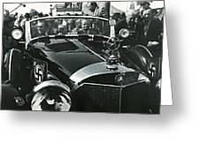 Tom Barrett And Family With High Bidder  Earl Clark At $153,000 Of Adolf Hitlers Mercedes Benz 770k Greeting Card