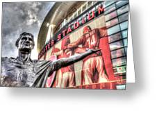 Tony Adams Statue Emirates Stadium Greeting Card
