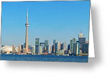 Toronto Skyline In The Day Greeting Card