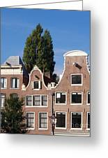Traditional Canal Houses In Amsterdam. Netherlands. Europe Greeting Card