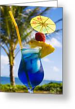 Tropical Cocktail Greeting Card