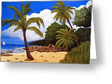 Tropical Island Beach Greeting Card