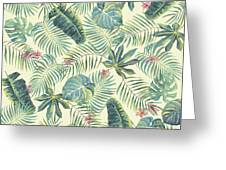 Tropical Leaves Pattern Greeting Card