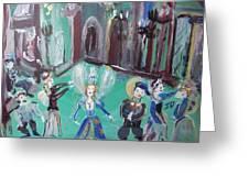 Tudor Fairies Greeting Card
