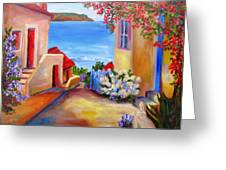 Tuscany Village  Greeting Card
