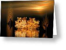 Twilight On The Bayou Greeting Card