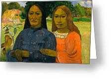 Two Women Greeting Card