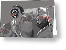 Two Yaqui Pascola Dancers Gallery In The Sun Tucson Arizona 1969-2013 Greeting Card