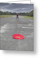 Umbrella Greeting Card by Joana Kruse