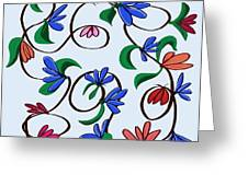 untitled  Floral Greeting Card