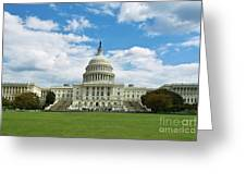 Us Capitol Washington Dc Negative Greeting Card