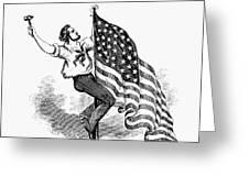 U.s. Flag, 19th Century Greeting Card