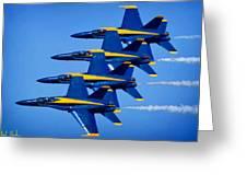 Us Navy Blue Angels Greeting Card