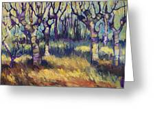 Van Gogh's Orchard Greeting Card