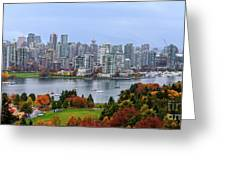 Vancouver In Fall Greeting Card