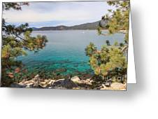 View Across Lake Tahoe Greeting Card