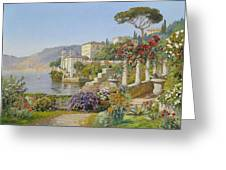 View Of A Lake In The South Greeting Card