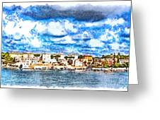 View Of Brindisi From The Ship Greeting Card