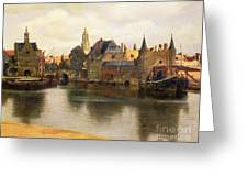 View Of Delft Greeting Card