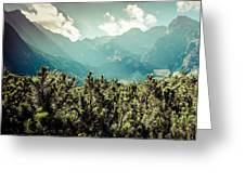 View Of Tatra Mountains From Hiking Trail. Poland. Europe.  Greeting Card