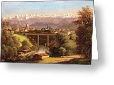 views of Bern and the Bernese Oberland Greeting Card
