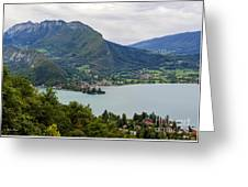 Village Of Talloires On The Banks Of Lake Annecy Greeting Card