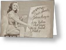 Vintage Pinup Greeting Card