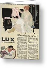 Has It Really Been Laundered Vintage Soap Ad Greeting Card