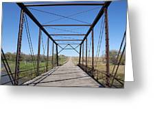 Vintage Steel Girder Bridge Greeting Card