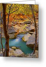Virgin River In Autumn Greeting Card