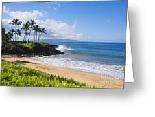 Wailea, Ulua Beach Greeting Card