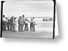 Waiting For Fish Holly Beach Now Wildwood New Jersey 1907 Greeting Card