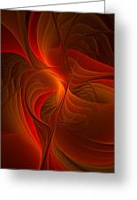Warmth, Modern Abstract Fractal Art Greeting Card