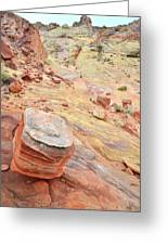 Wash 3 Color In Valley Of Fire Greeting Card