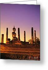 Wat Mahathat Greeting Card