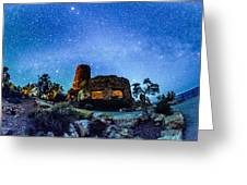 Watchtower Over The Grand Canyon   Arizona Greeting Card