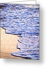 Waves Breaking On Tropical Shore Greeting Card