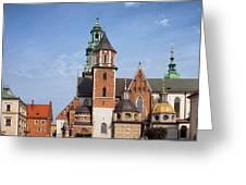 Wawel Cathedral In Krakow Greeting Card