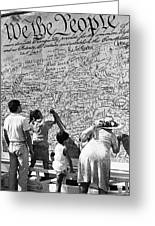 We The People Signing Bicentennial Of The Constitution Tucson Arizona 1987 Greeting Card