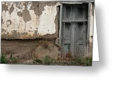 Weathered Door In A Wall Greeting Card