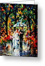 Wedding Under The Rain Greeting Card