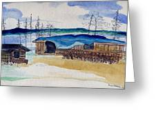 Wein Lake Sportsman's Lodge Greeting Card