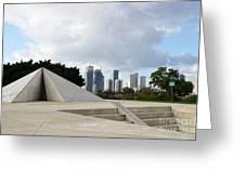White City Statue, Tel Aviv, Israel Greeting Card