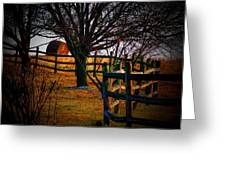 Winding Fence Greeting Card