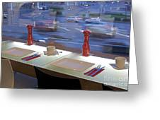 Window Seating In An Upscale Cafe Greeting Card
