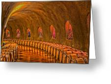 Wine Cave Greeting Card